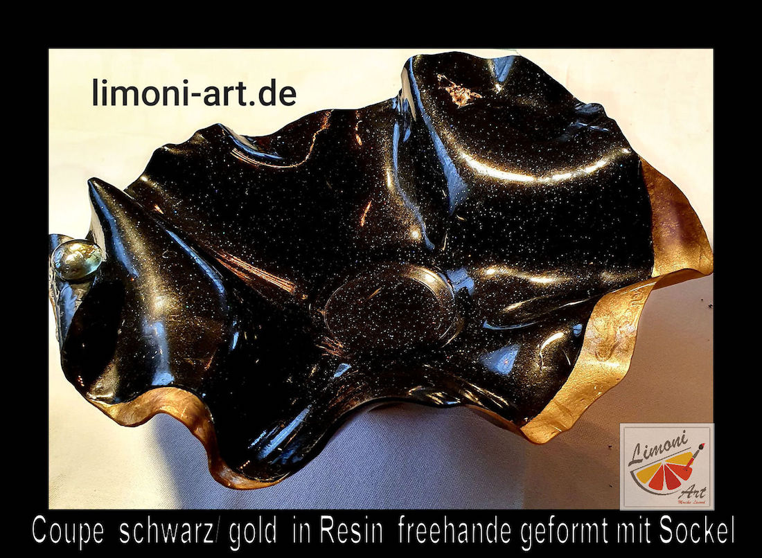 Coupe schwarz gold Resin